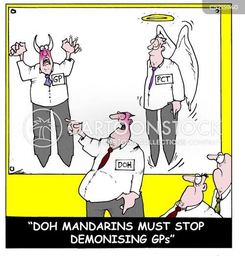 demonization cartoon