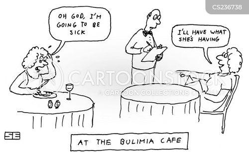 being sick cartoon