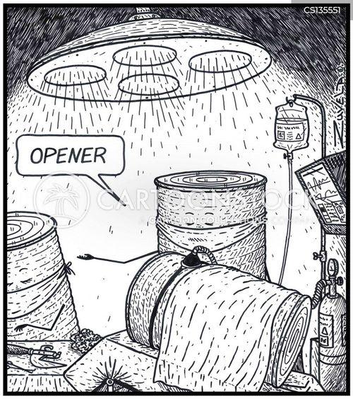 scalpels cartoon