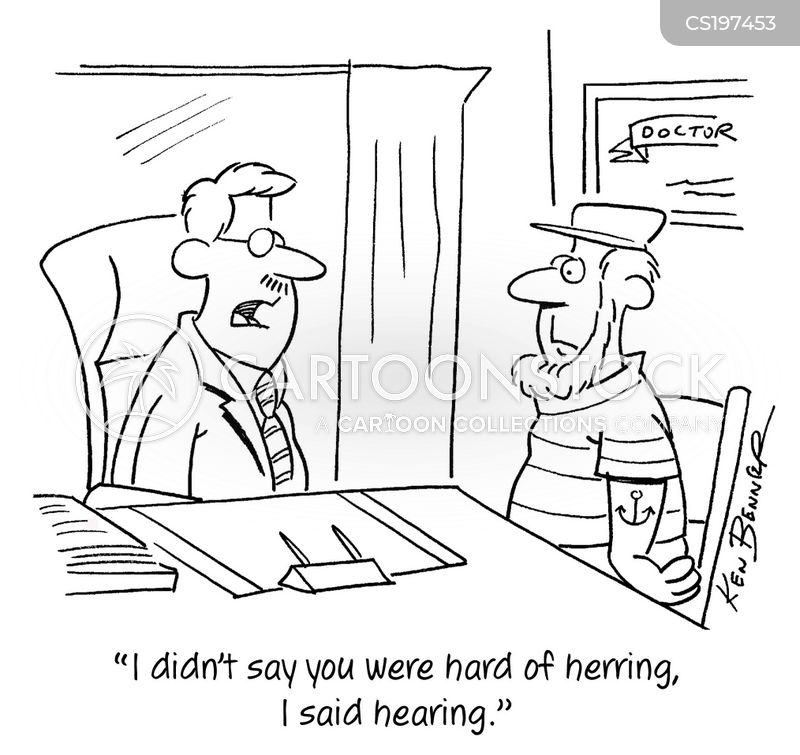 hearing loss cartoon