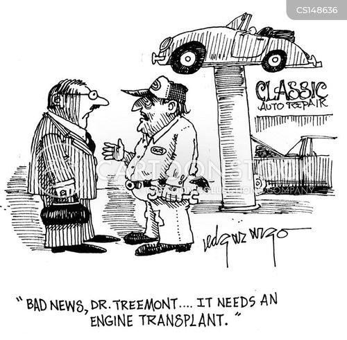 engine transplant cartoon