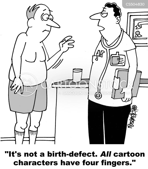 birth defects cartoon