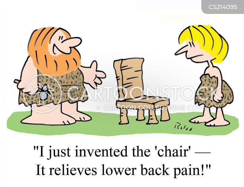 lower back cartoon
