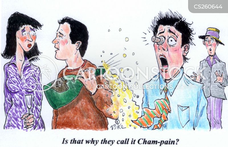 sparkling wine cartoon