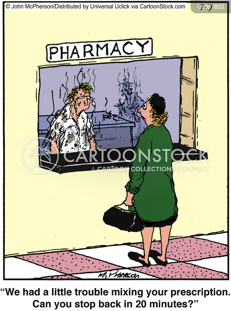 prescription drug cartoon