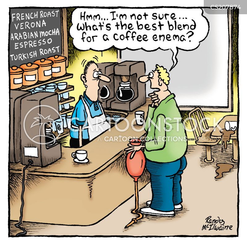 coffee enemas cartoon
