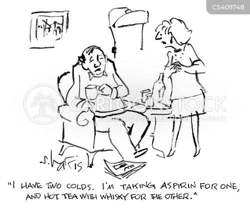 flu remedies cartoon