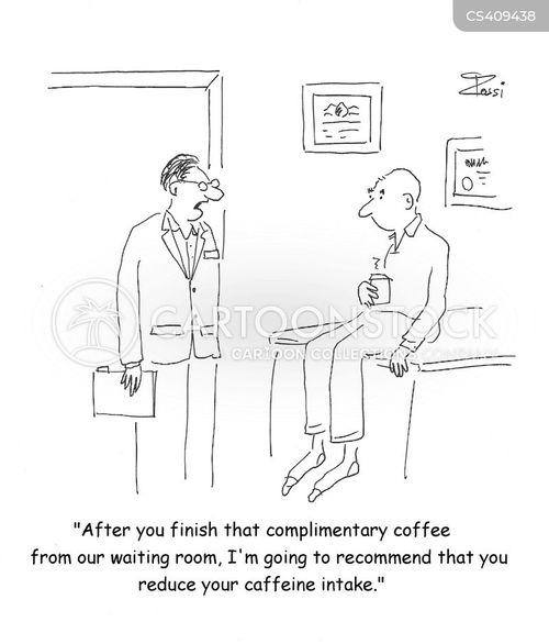 caffeine intake cartoon