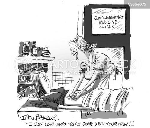 beauty therapists cartoon