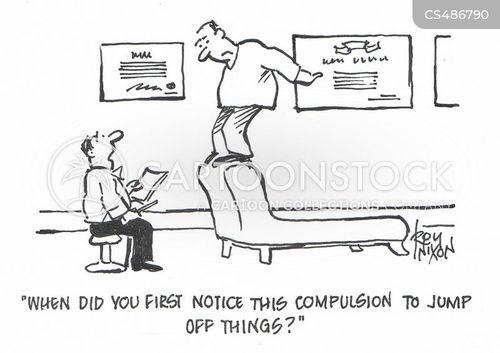 compulsive behavior cartoon