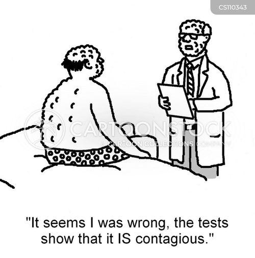medical result cartoon
