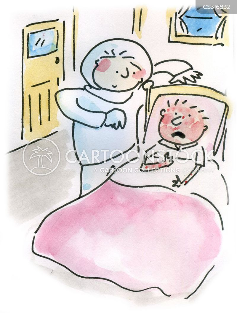 sickbed cartoon
