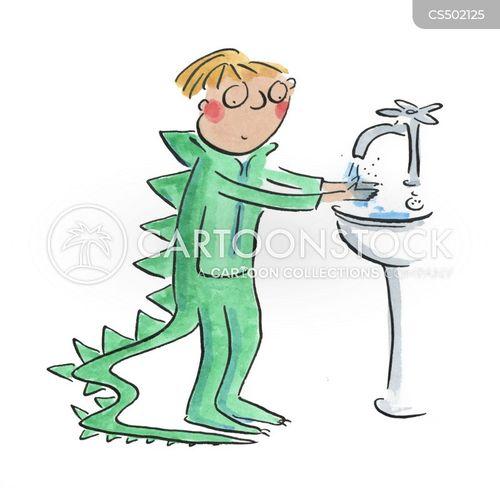 hand sanitizer cartoon
