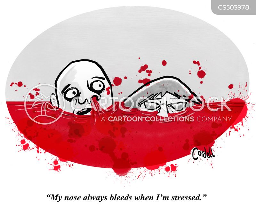 nose bleed cartoon