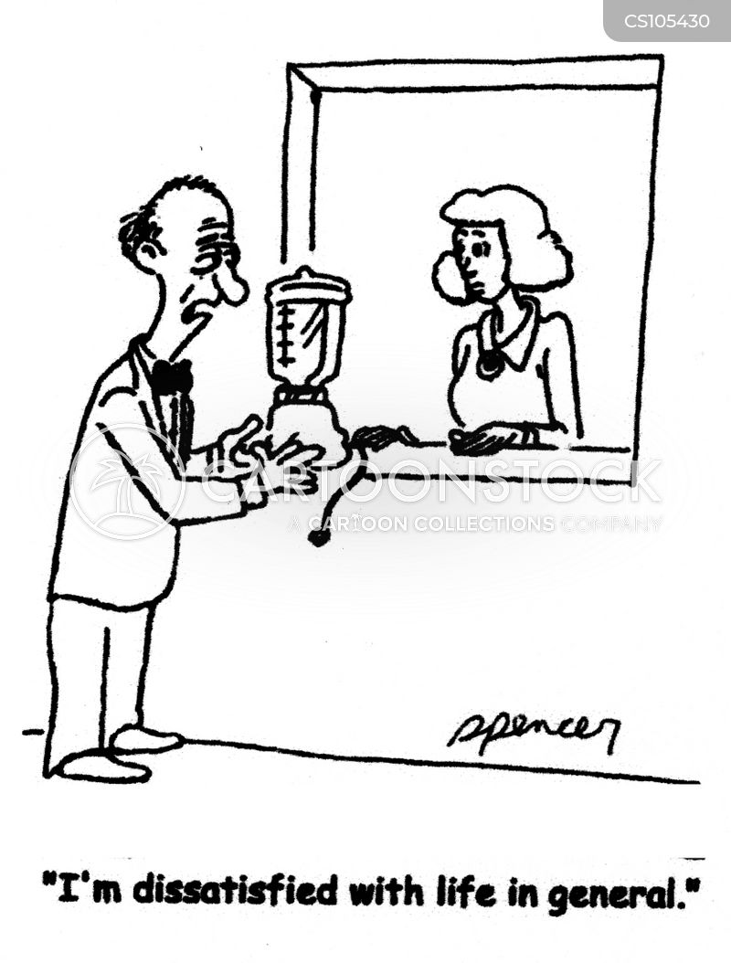 dissatisfied with life cartoon