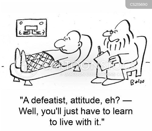 defeatist cartoon