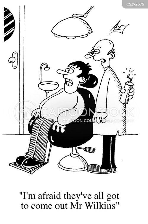 dental treatments cartoon