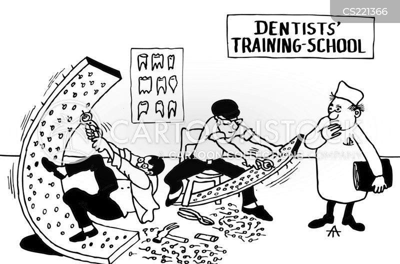 dental operation cartoon