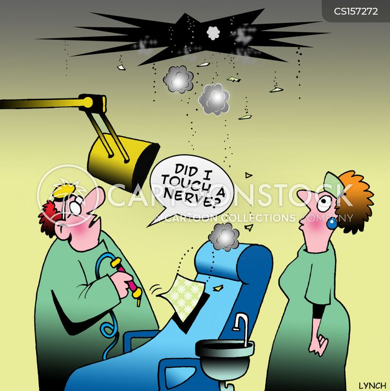 tooth extractions cartoon