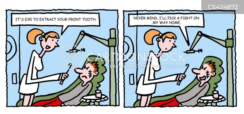 Tooth Extraction Cartoons And Comics Funny Pictures From Cartoonstock