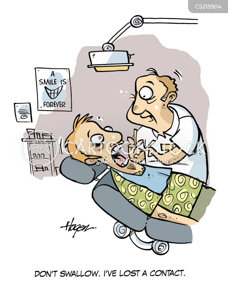 dentist practises cartoon