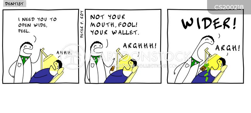 Clean Teeth Cartoons and Comics - funny pictures from CartoonStock