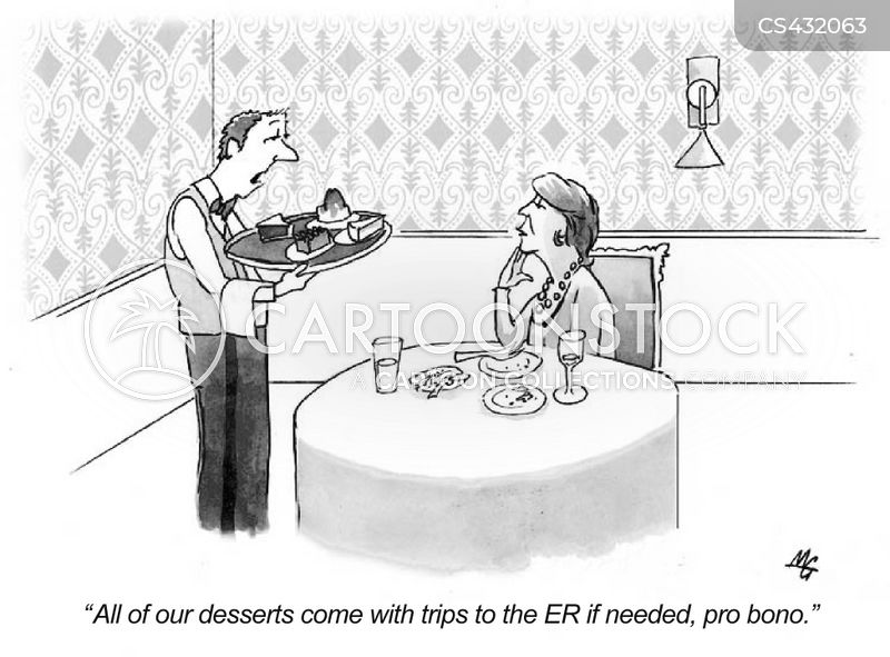 desert menus cartoon