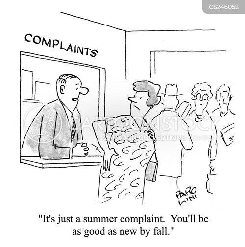 seasonal illness cartoon