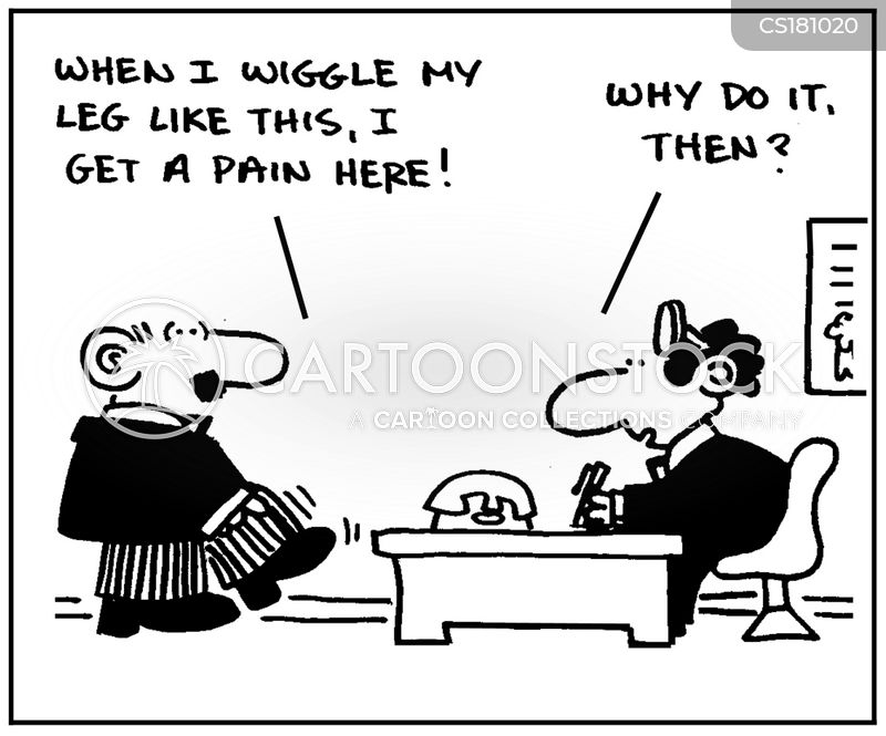 leg injury cartoon