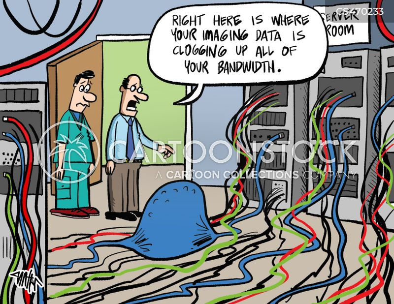 data transfer cartoon