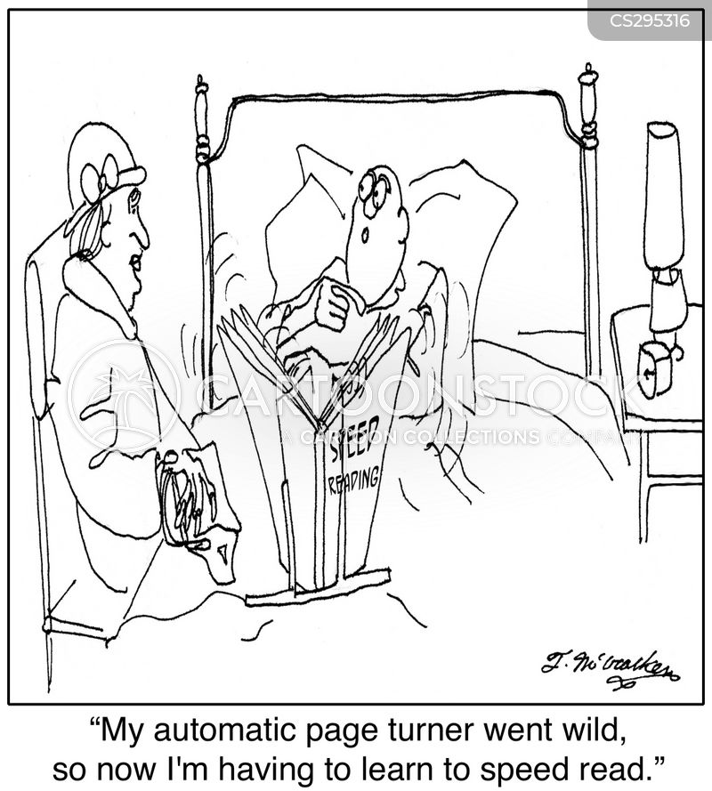 speed reader cartoon