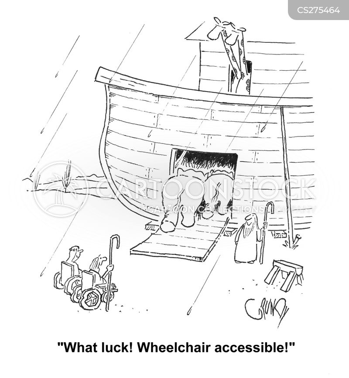 disabled entrance cartoon