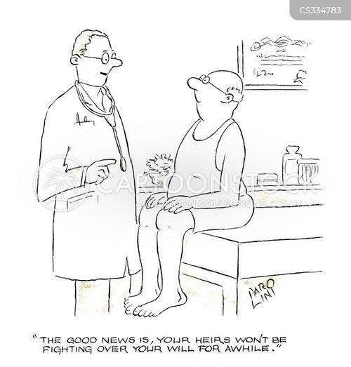 full bill of health cartoon