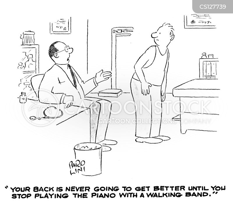 walking band cartoon