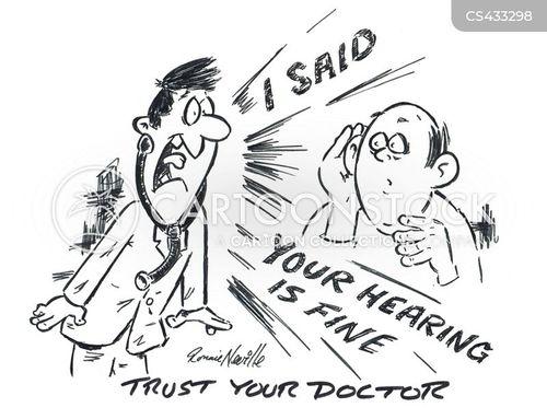 hearing tests cartoon