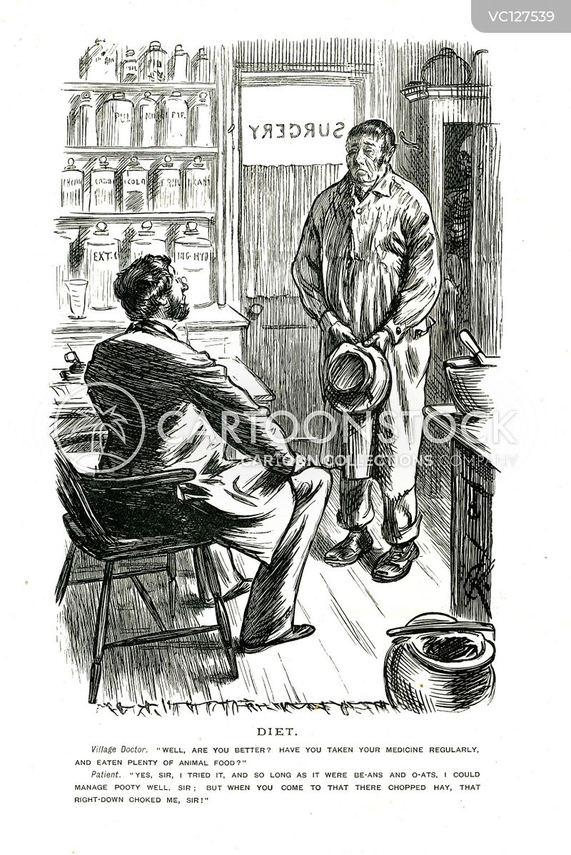 Doctors Surgery Vintage And Historic Cartoons