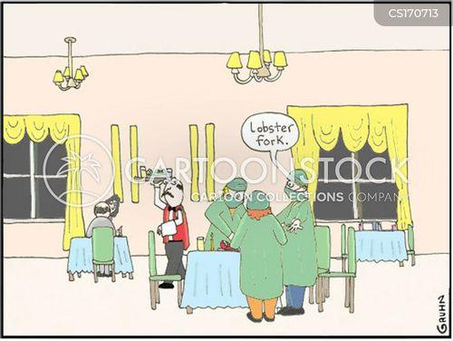 seafood restaurants cartoon