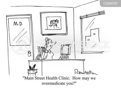 health clinic cartoon