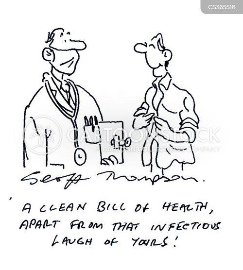 clean bill of health cartoon
