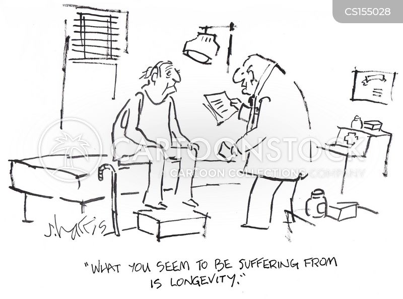 Image result for funny cartoons on longevity