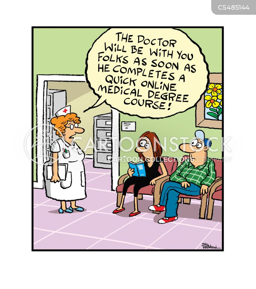 online course cartoon