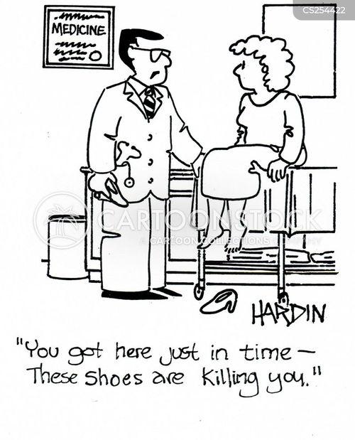 foot doctors cartoon