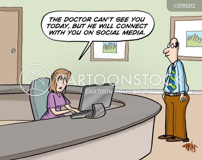 social connections cartoon