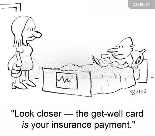 insurance payout cartoon