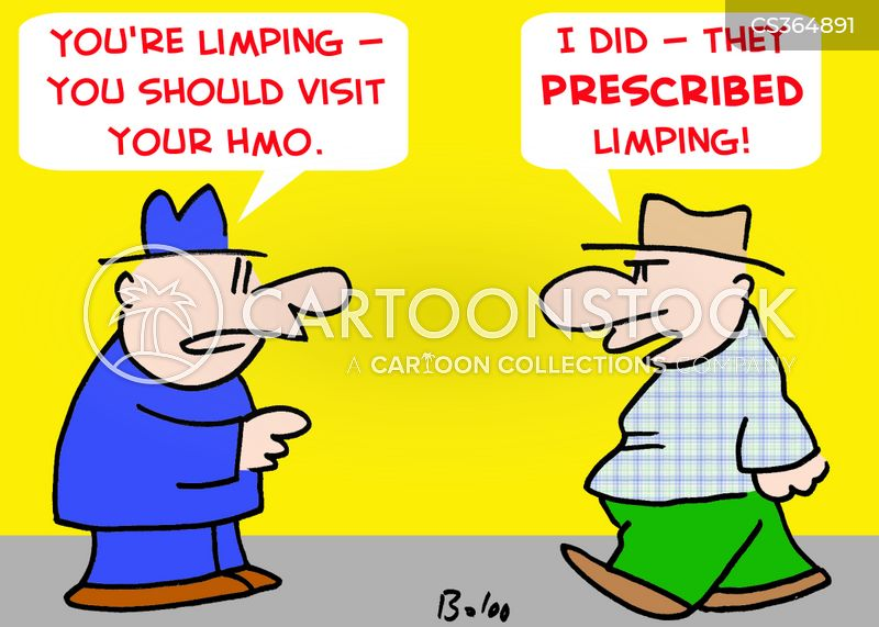 limping cartoon