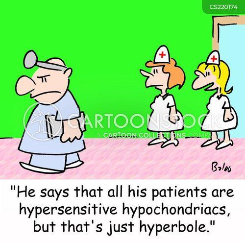 hypersensitive cartoon