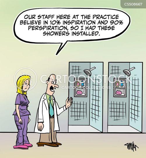 medical workers cartoon