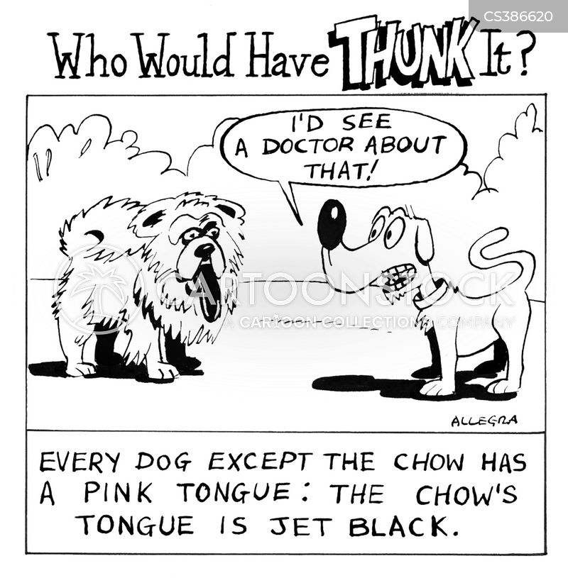 Chow cartoons, Chow cartoon, funny, Chow picture, Chow pictures, Chow image, Chow images, Chow illustration, Chow illustrations