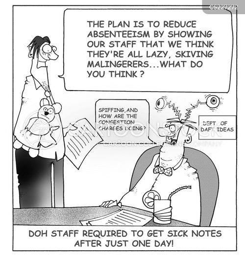 staff absences cartoon