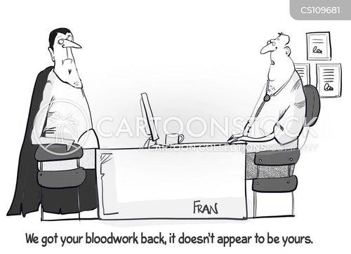 blood-work cartoon